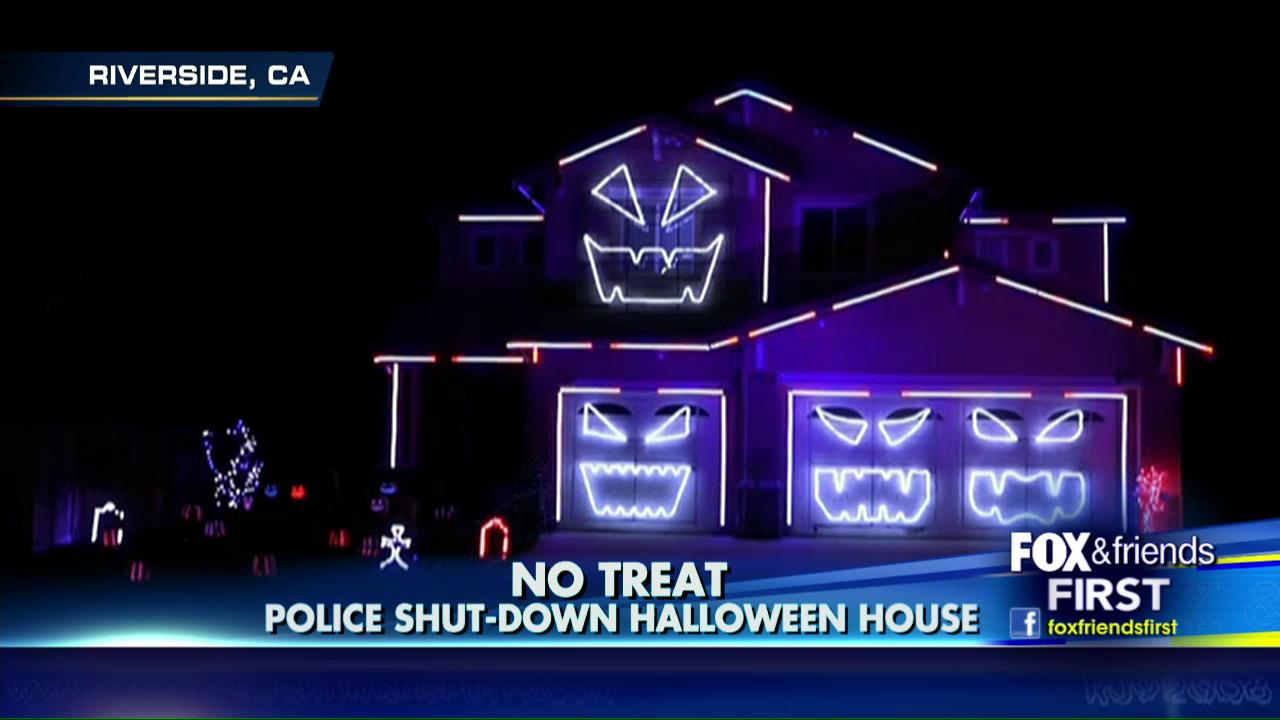 Epic halloween house light show shut down by ca police fox news