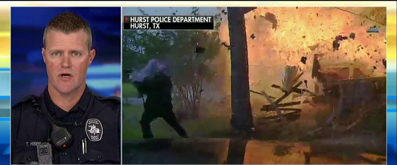 TX Officer Barely Escapes Explosion After Illegal Immigrant Crashes Into House