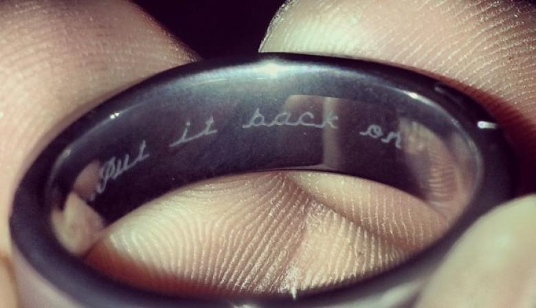 Prankster Wife Has Perfect Reminder to Husband Engraved on Wedding
