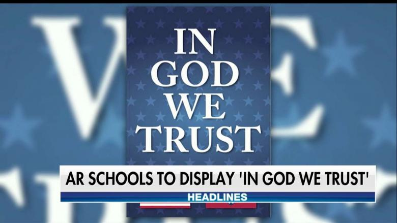 'In God We Trust' Posters to Be Displayed in Arkansas Public Schools