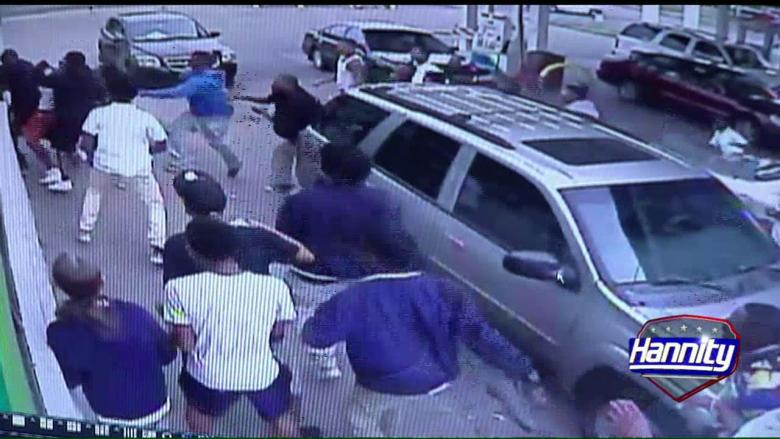 'This Was a Terrorist Act': Man Attacked By Mob of Teenagers at Gas Station