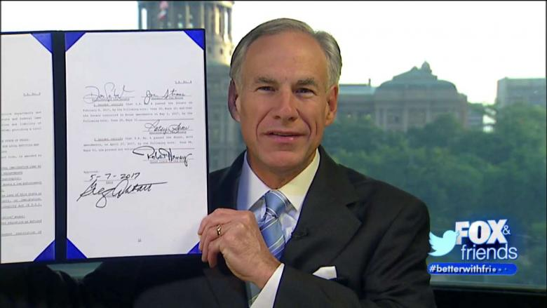 Image result for Without Notice, Texas Governor Greg Abbott Signs 'Sanctuary Cities ...