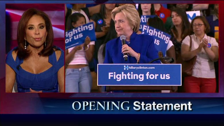 'The Fix Is In': Judge Jeanine Says Obama Is Complicit in Hillary Email Scandal