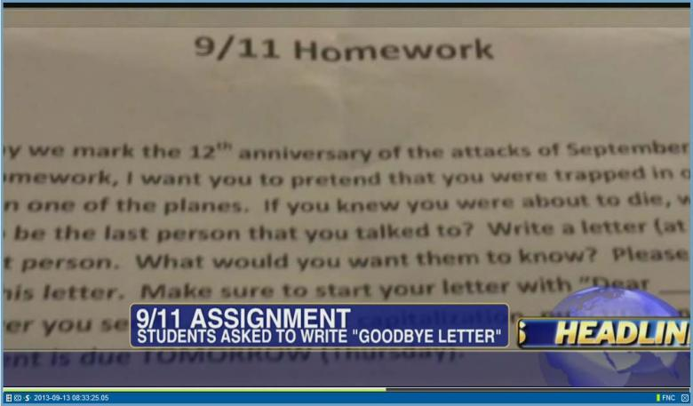 essay questions on 9/11 Iowa state university students told to write 9/11 essay from terrorists' perspective.