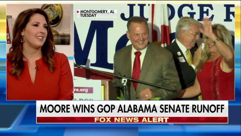 Moore defeats unusual , secures GOP nomination in Senate race
