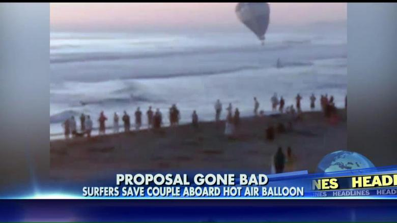 Hot Air Balloon Goes Down In Ocean Right After Mans Proposal Fox