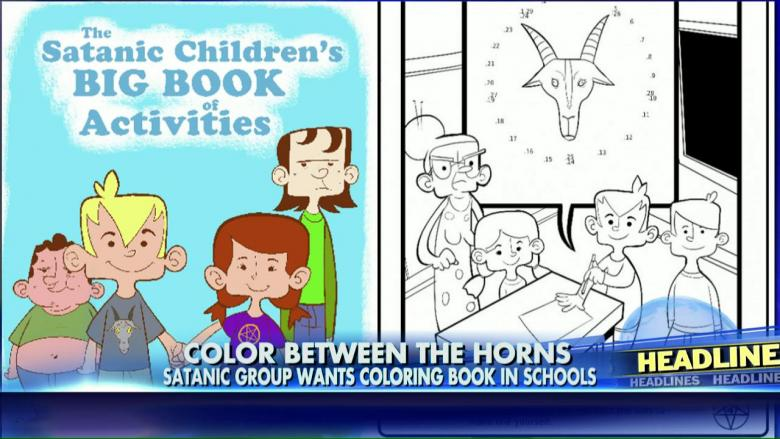 satanic coloring book submitted to fla schools for distribution fox news insider - Satanic Coloring Book