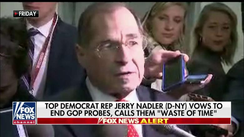 'It's a Waste of Time': Top Democrat Nadler Says He Will End GOP-Led Probe Into FBI, DOJ