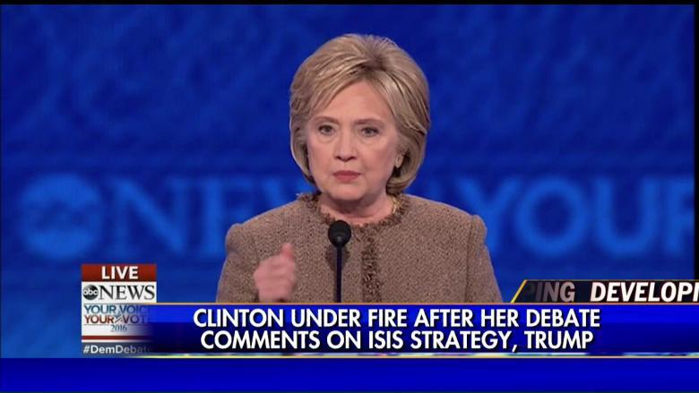 donald trump demands apology hillary clinton isis recruiting remark