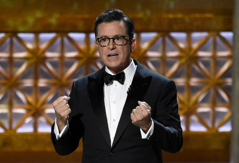 Emmy Awards 2017: Stephen Colbert, Alec Baldwin and Sean Spicer All Turn Out to Mock Trump