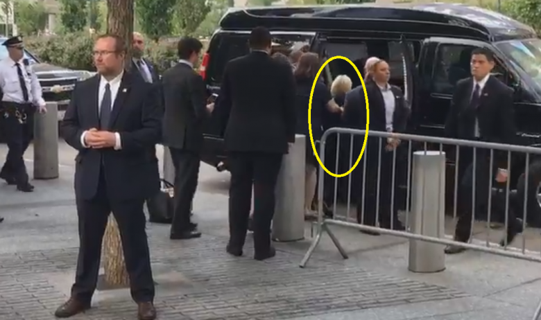 Image result for Hillary Clinton 2016 fainting at 9/11 ceremony