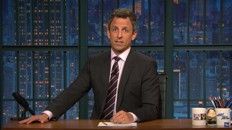 Seth Meyers Flips Off Trump-Supporting Viewers: 'If You Like Trump, Go Away'