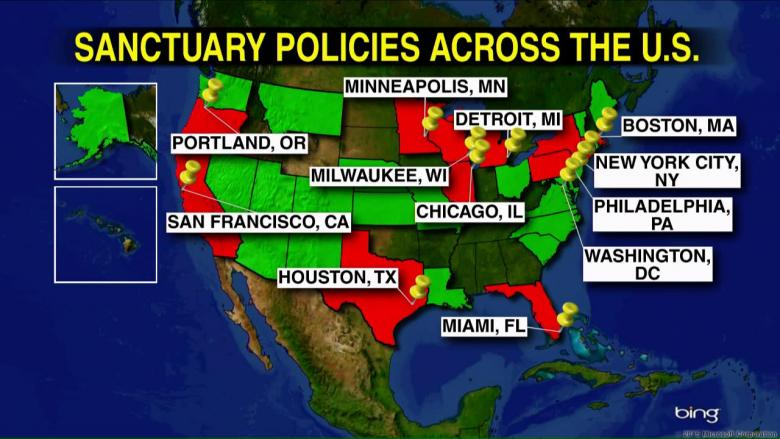 MAP DETAILS More Than Sanctuary Cities Across The US - United states cities map