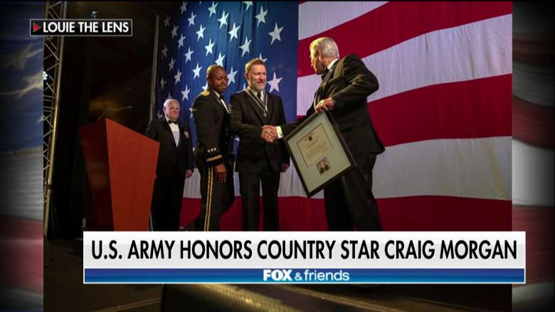U.S. Army Honors Country Music Singer With Civilian Service Medal