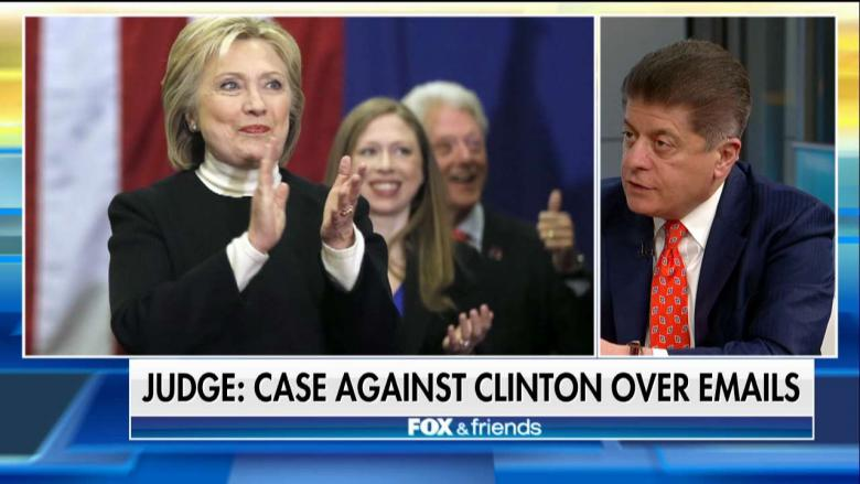 Judge Nap Urges Sessions to Reopen Clinton Email Probe Due to 'Overwhelming Evidence'