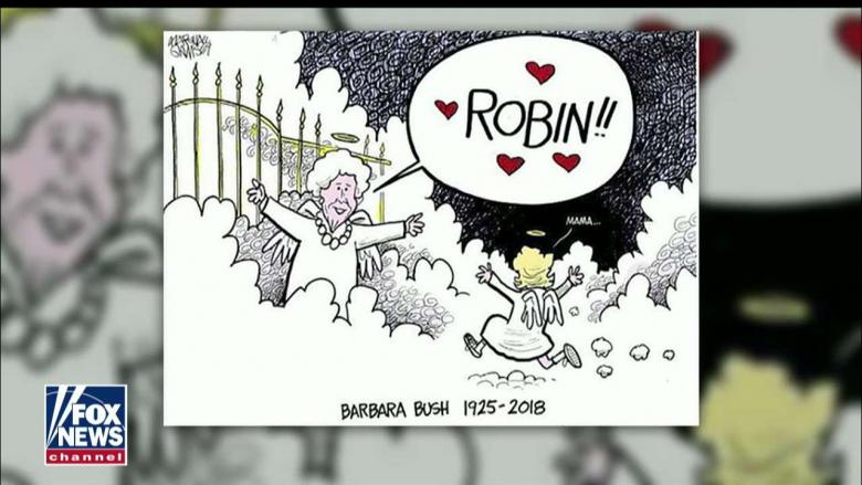 We Waited For You Political Cartoonist Honors George H W Bush