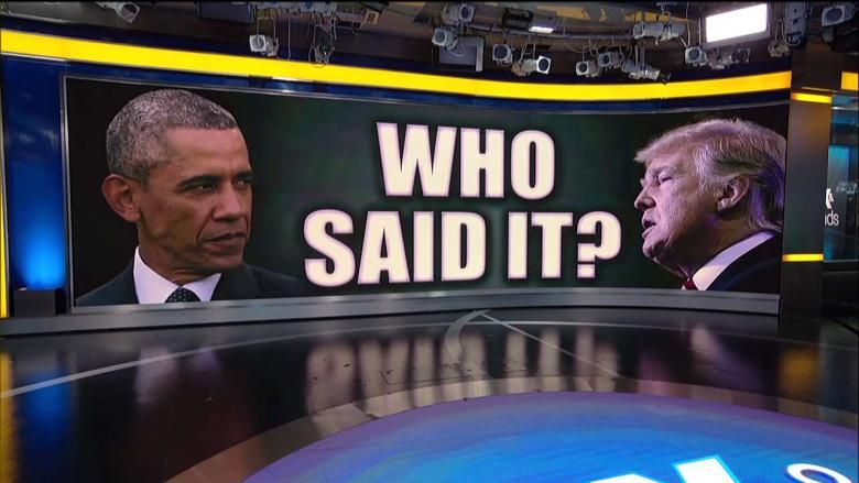 College Students Oppose Obama Remarks When Told They're From Trump