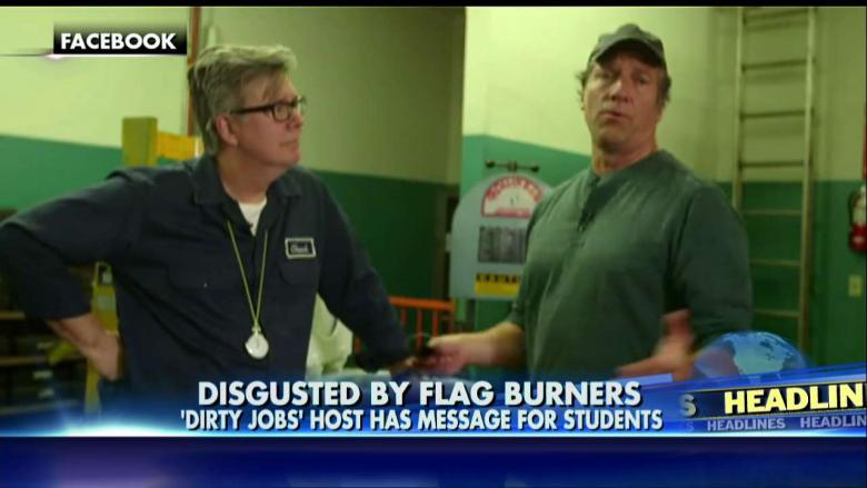 Mike Rowe to Flag-Burning Students: If You Hate America, Don't Accept Federal Aid!