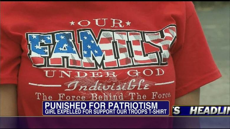 Student Sent Home for 'Support the Troops' Shirt... at Army Base!?