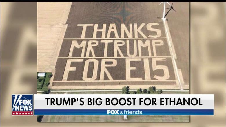 LOOK: Indiana Farmers Harvest 60-Acre 'Thank You' to Trump for Ethanol Boost
