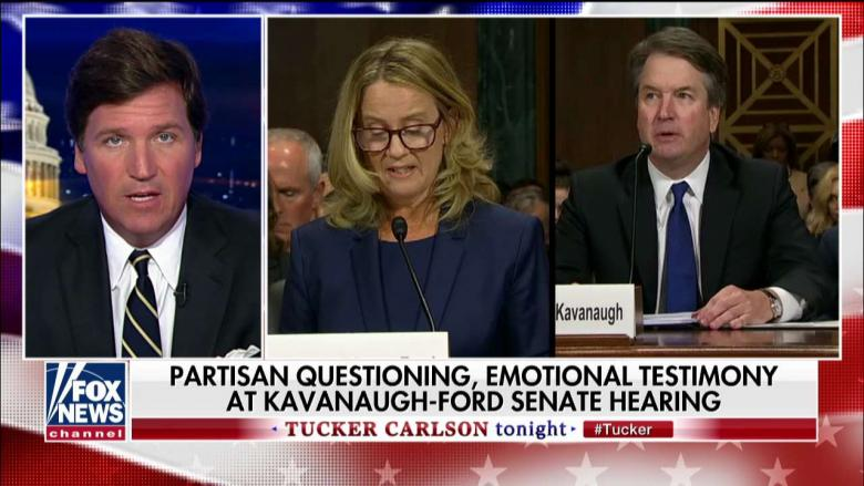 'Man on Fire': Tucker Says Kavanaugh Appeared 'Transformed' at Hearing, Confronted Dems' Hypocrisy