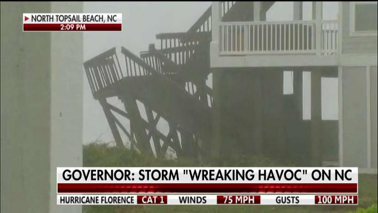 Hurricane Florence makes landfall in North Carolina