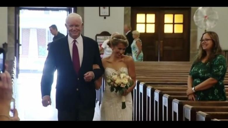 LOOK: Bride Walked Down Aisle by Man Who Received Her Dad's Heart