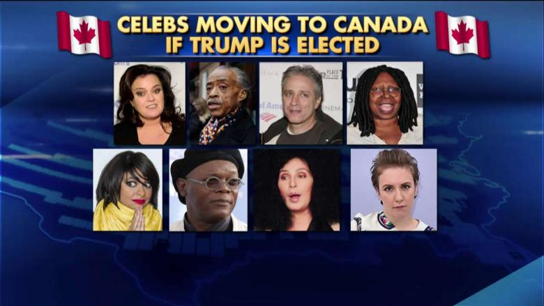 she s a b actor trump reacts to celebs vowing to move to canada if