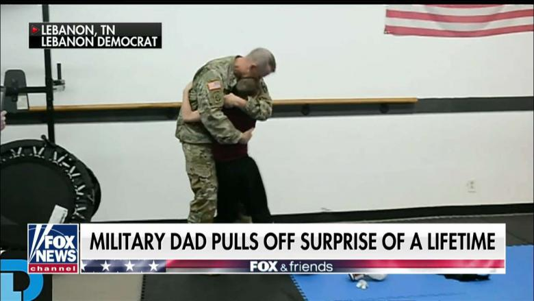 Must-See Reunion: TN Military Dad Surprises Blindfolded Son at Taekwondo Practice
