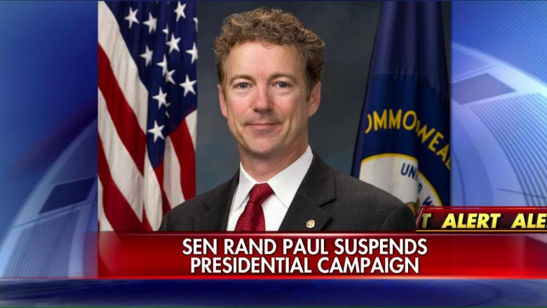 Kentucky Sen. Rand Paul is suspending his presidential campaign, he announced on Wednesday.