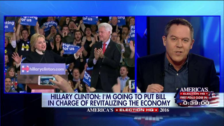 Gutfeld: Hillary Appointing Bill to Oversee Economy Seems Like a 'Bait-and-Switch'