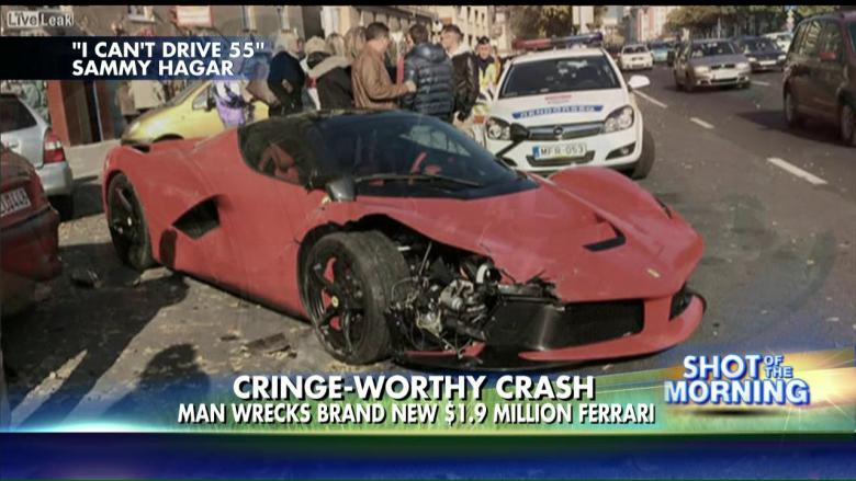 watch: man crashes $1.9m ferrari right after leaving the dealership