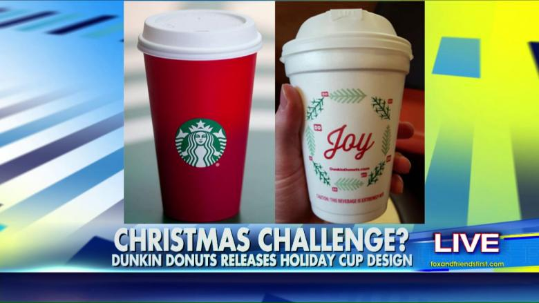 Dunkin' Releases Festive 'Joy' Cups Amid Starbucks' Red Cup ...