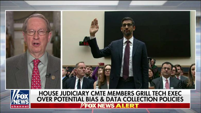 Rep. Goodlatte on Google CEO Grilling: Use of Antitrust Laws 'Needs to Be Reviewed'