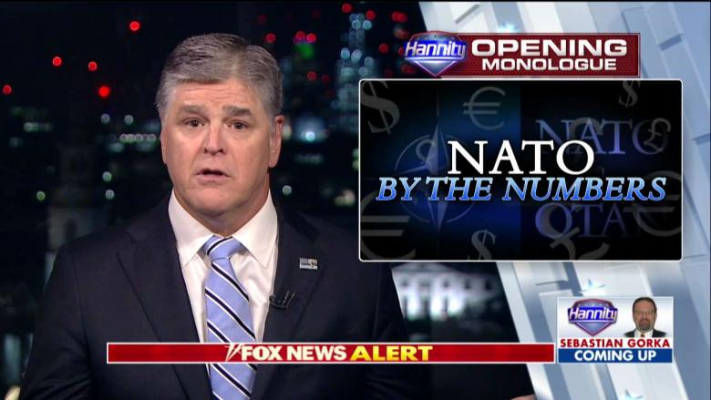 Hannity on NATO: Germany Could 'Cripple Russia's Economy' By Heeding Trump's Warning on Oil Pipeline