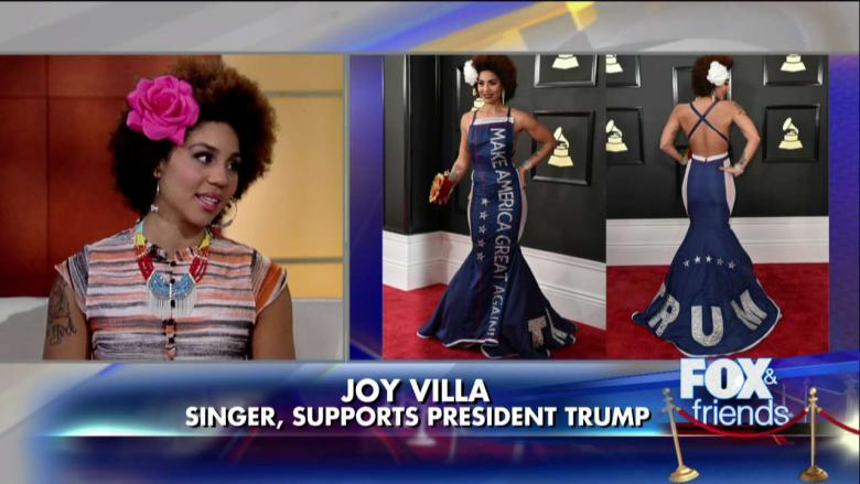 Joy Villa: 'I Lost Friends' After Wearing Pro-Trump Gown to Grammys