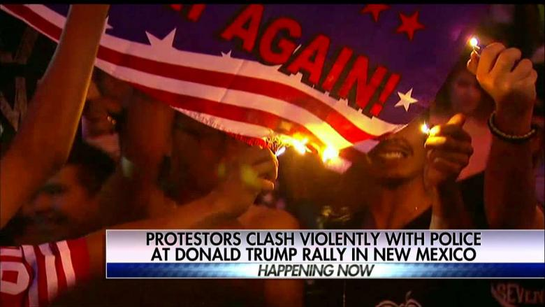 Image result for anti-trump thugs at rallys
