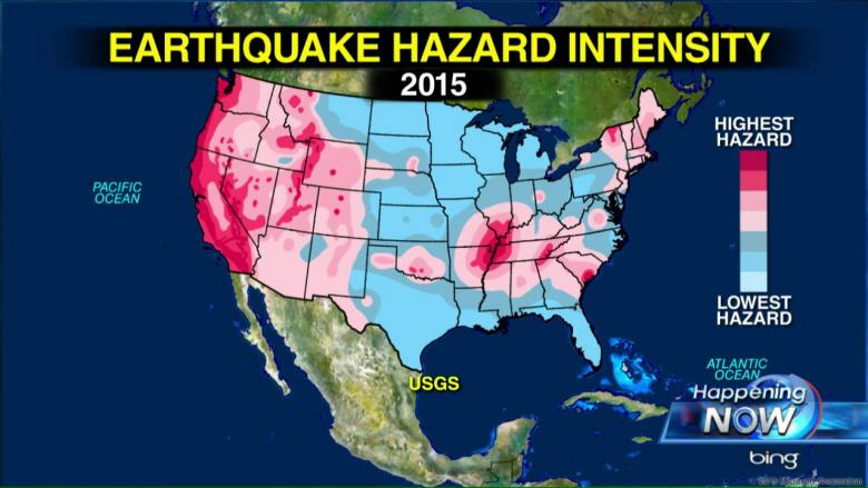 USGS Map Nearly Half of Americans Live in Potential Earthquake