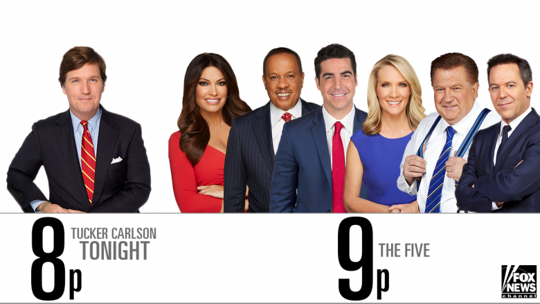 tonight on fox news tucker moves to new time the five goes to