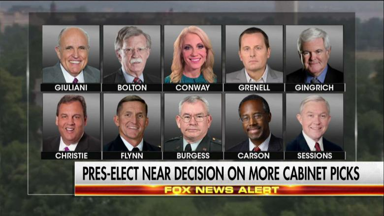 Here's the Latest Buzz on Pres-Elect Trump's Possible Cabinet ...