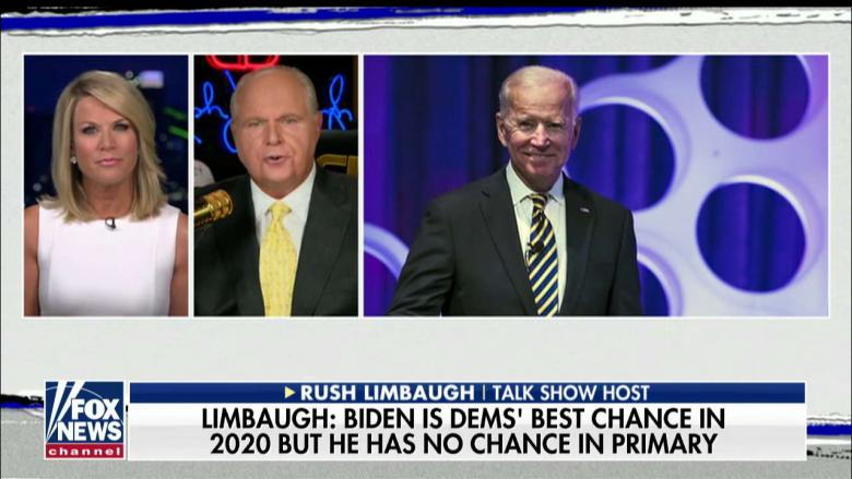 Limbaugh: Biden Is Dems' Best Chance Against Trump and 'He Doesn't Have a Chance'