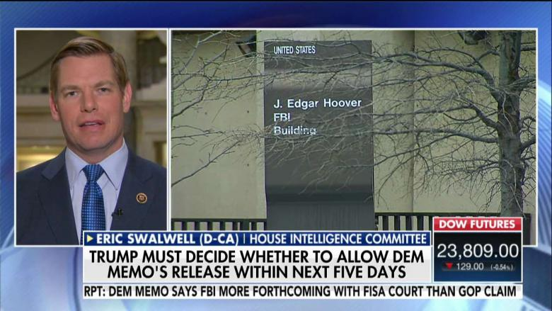 Swalwell on Dems' Counter Memo: 'Voluminous Evidence' Was Presented to FISA Court