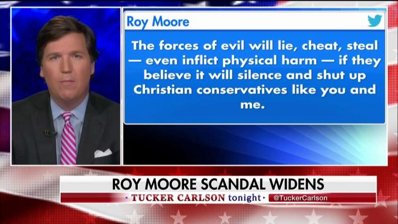 'That's What Al Sharpton Does': Tucker Says Roy Moore Shouldn't 'Drag God Into This'