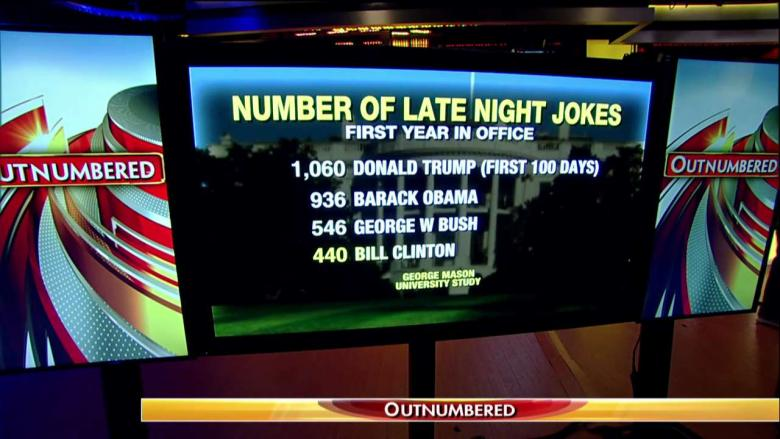 Late night report: Trump joked about more than his predecessors