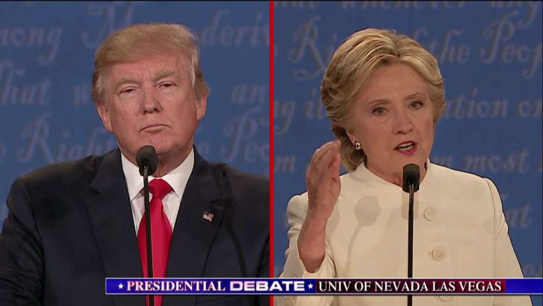 Image result for trump clinton debate october 2016