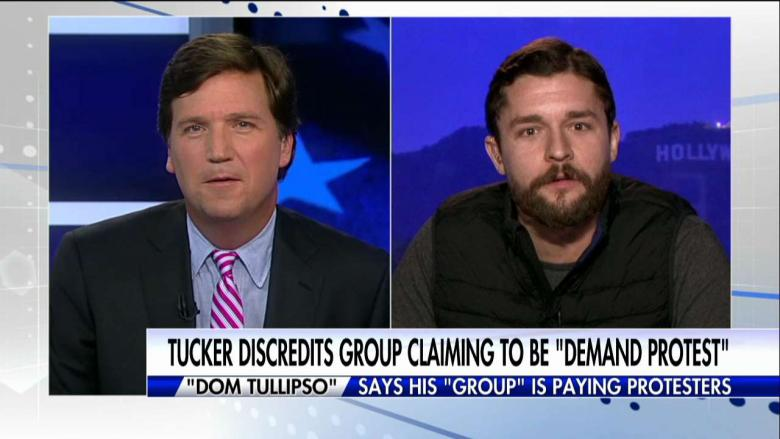 "Tucker Slams ""Hoax"" Group Claiming to Pay Protesters at Trump Inauguration"