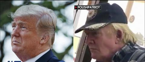 Footage of a man who bears a striking resemblance to President Donald Trump is making the rounds on social media.